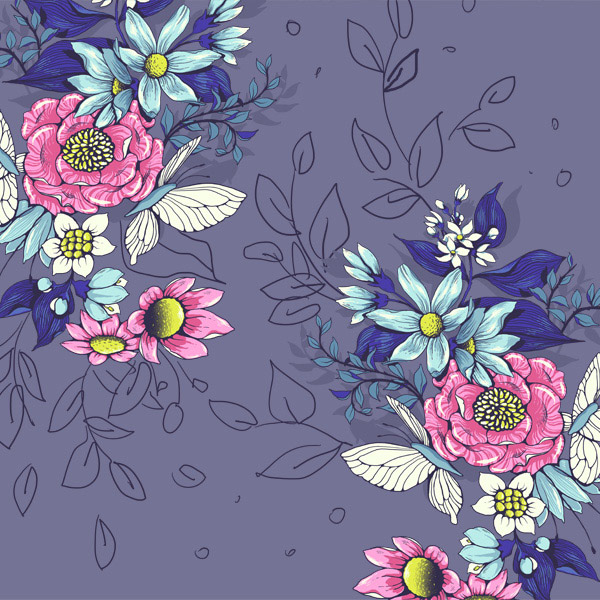 Make a floral pattern for fabric in PS - finding good flow and density