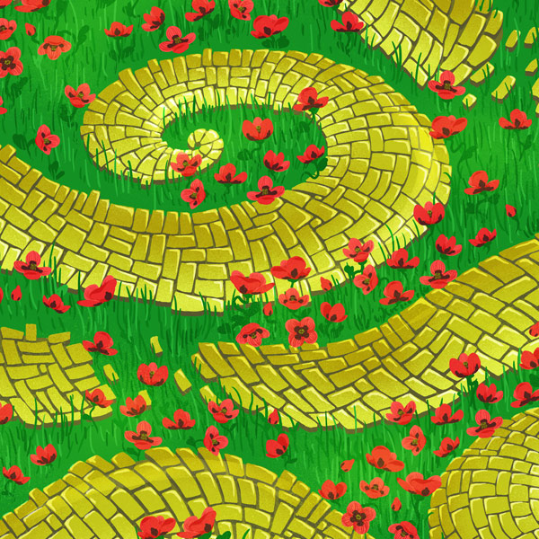 Create a Fun, Seamless Yellow Brick Road and Poppy Pattern in Adobe Photoshop