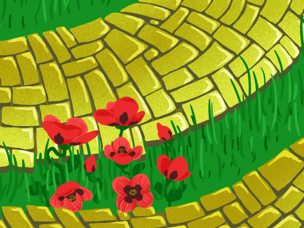 Brick Road and Poppy Field pattern - adding petal details