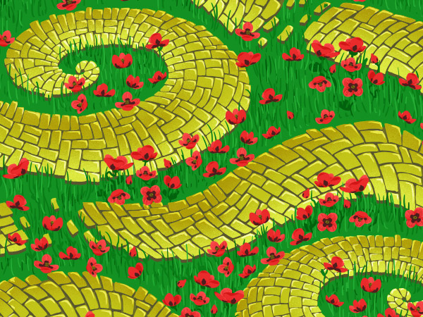 Brick Road and Poppy Field pattern - working on poppy distribution