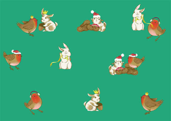 Winter Animals Pattern - Even scattering