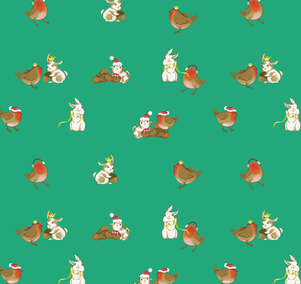 Winter Animals Pattern - Testing the repeat