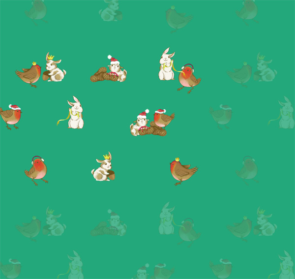 Winter Animals Pattern - Reducing opacity on the control repeats