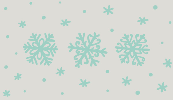 Winter Animals Pattern - Adding some backup to the main snowflakes