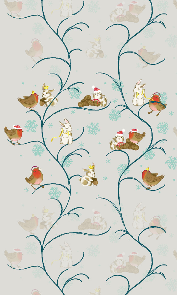 Winter Animals Pattern - Testing the repeat again