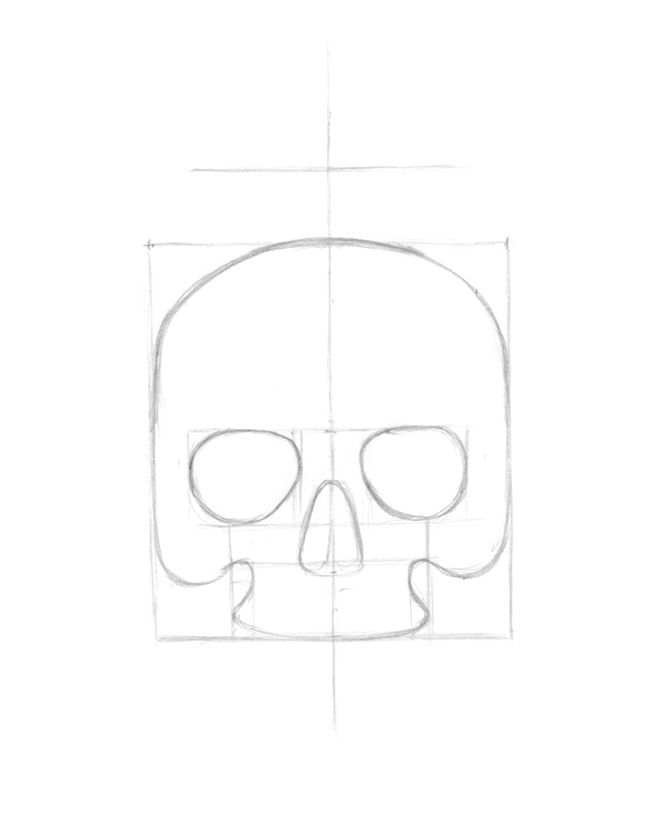 Creating rough skull shape