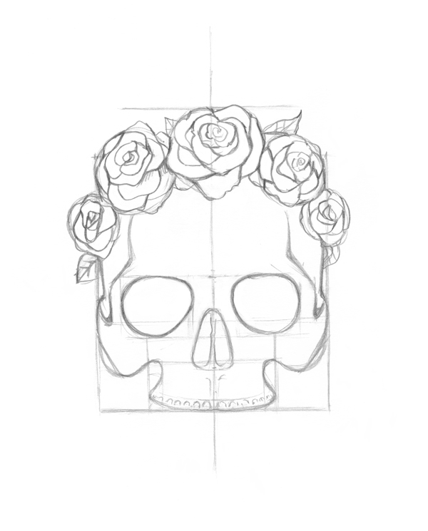How To Draw A Rose Crown
