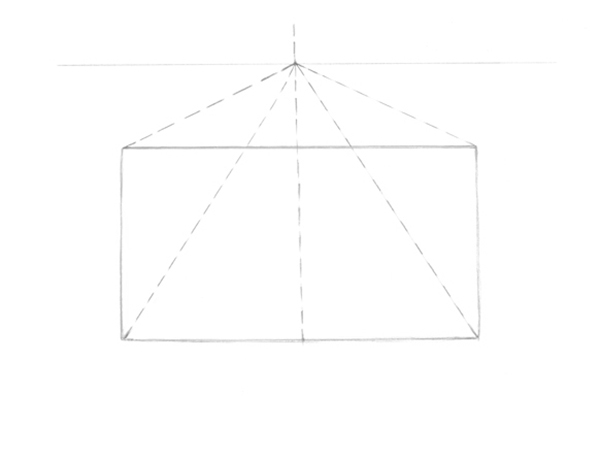 Drawing guides to the vanishing point