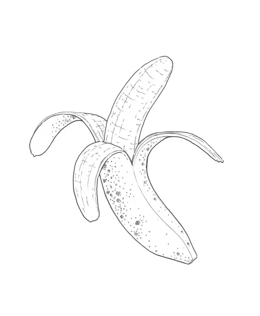 Marking the pattern of the banana skin