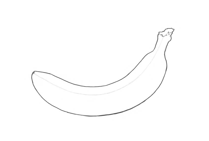How to Draw a Banana - ThemeKeeper.com