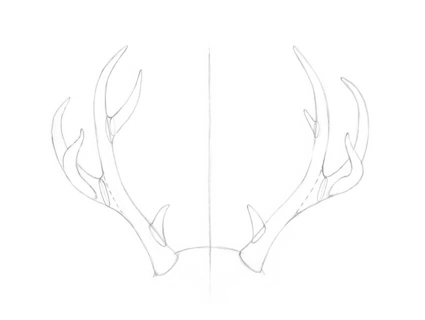Adding the brow tines