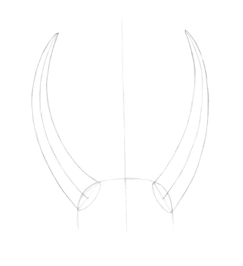 Creating the contours of the horns