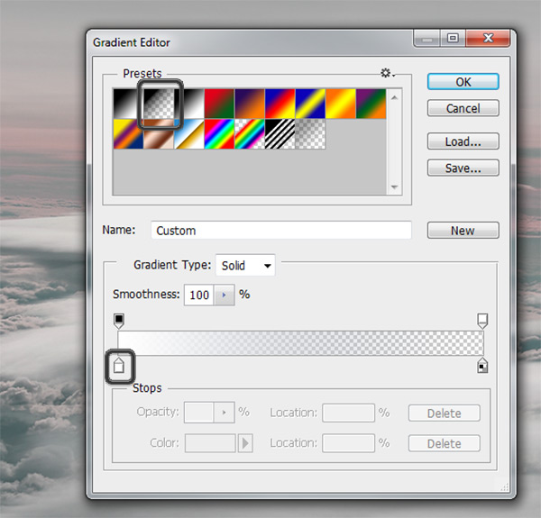 Gradient Editor settings