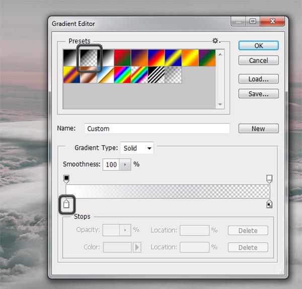 Gradient Editor settings