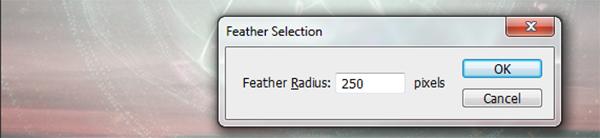 Feather radius
