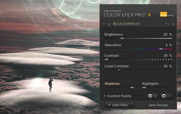 Bleach Bypass settings