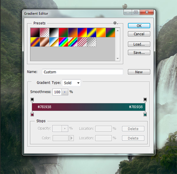 Gradient Map settings