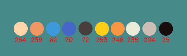 R color values for palette
