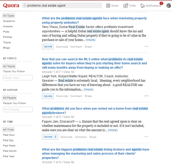 Quora real estate agent problem questions