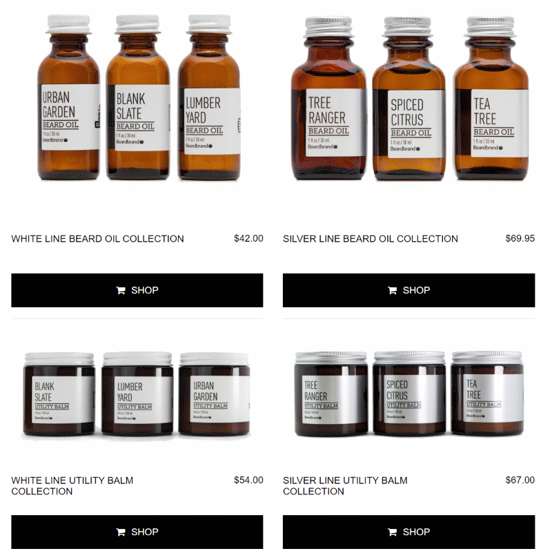 Beardbrand bundled product collections