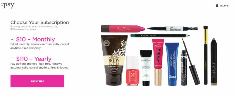 Ipsy Prepayment options