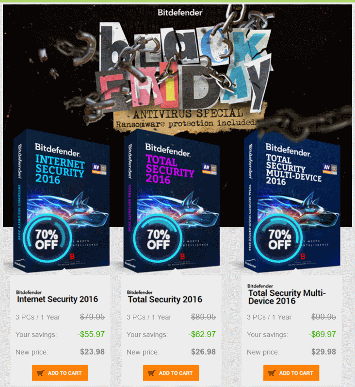 Bitdefender Black Friday discount offer
