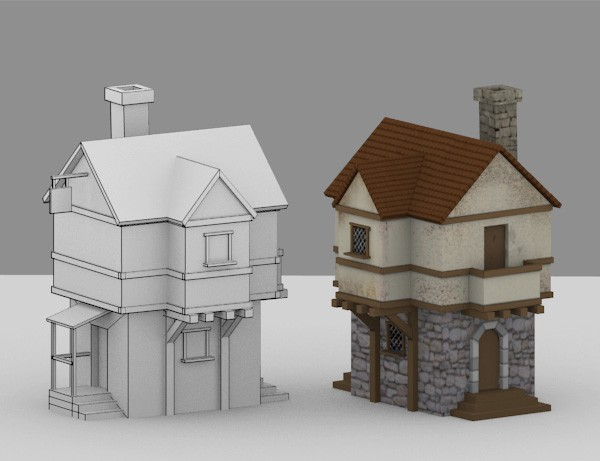 Creating a low poly medieval house in blender part 1 for 3d house model maker