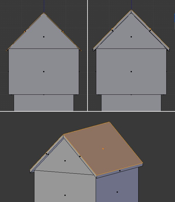 Extrude to create the roof