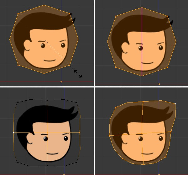 Creating the head