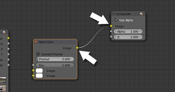 Connecting Alpha Over node to Composite