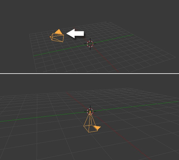 Reset the camera location and rotation
