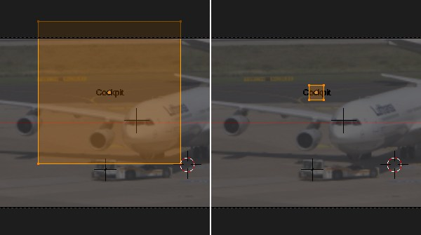 Scaling and editing the plane