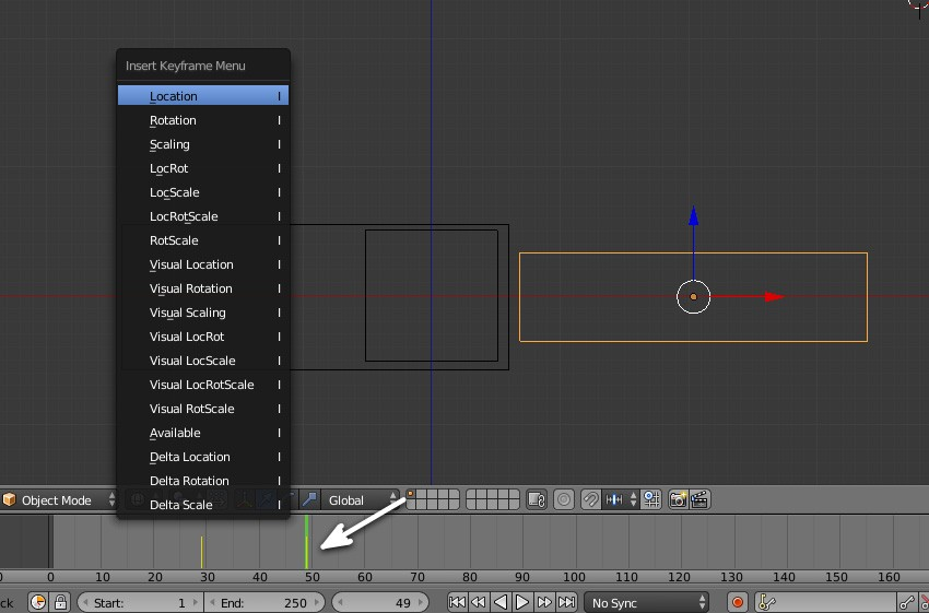 Add keyframe to the plane
