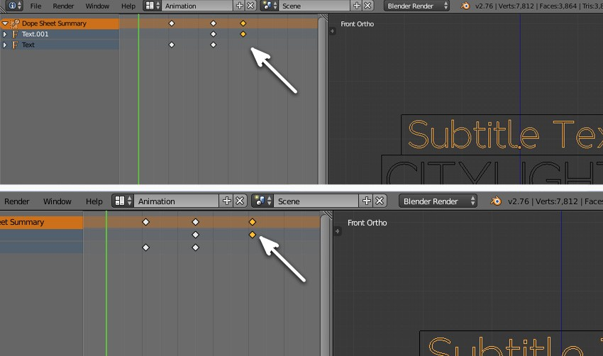 Tweak keyframes in Dope sheet