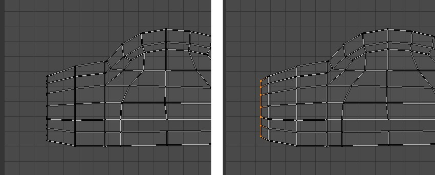 Tweak the vertices in UV Editor