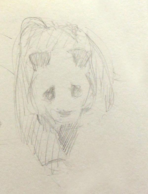 Sketch of a wandering panda
