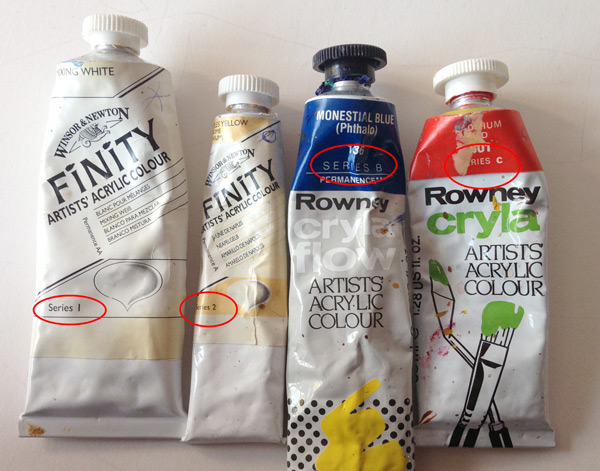 Paint tubes series number