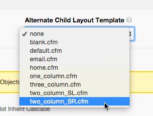 Select twoCol_SRcfm template