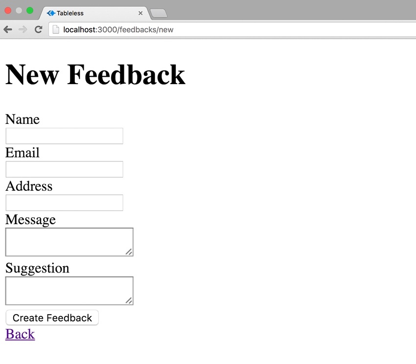 The Feedback Page