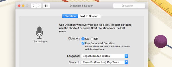 You can configure the basics of Dictation within System Preferences