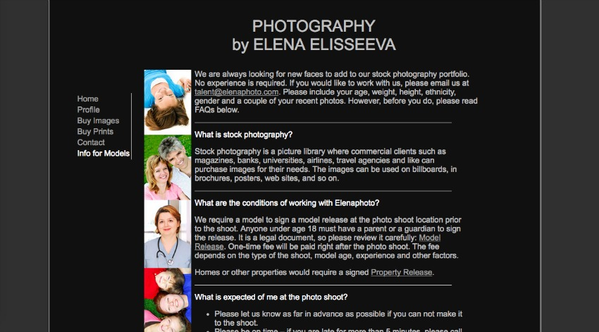 how to find a photographic model