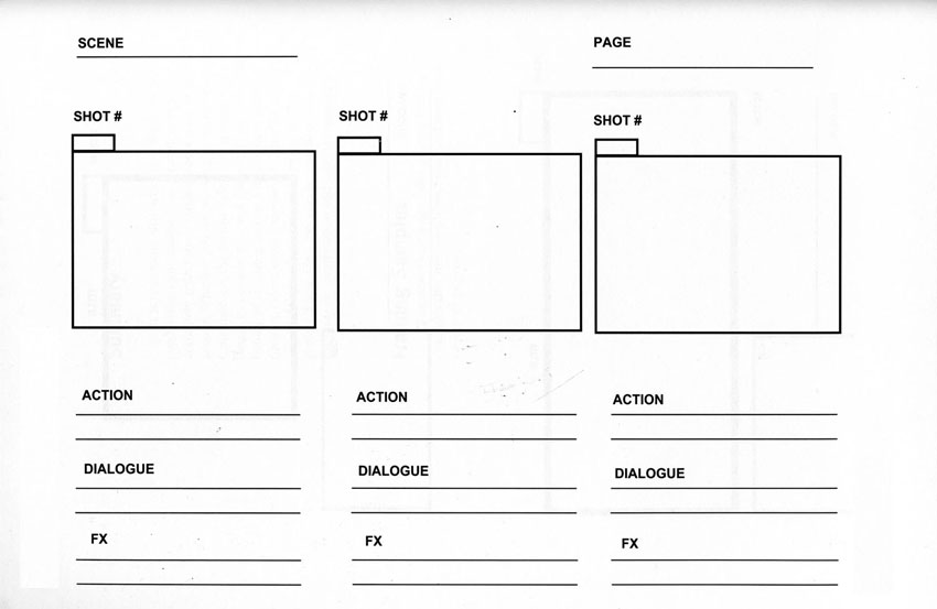 How to make a storyboard for video for Magazine storyboard template