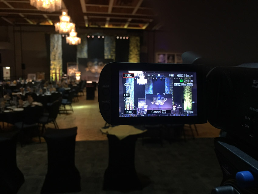 Camera at speech venue