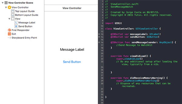 iOS App - Creating Controls and Connect IBOutlets and IBAction