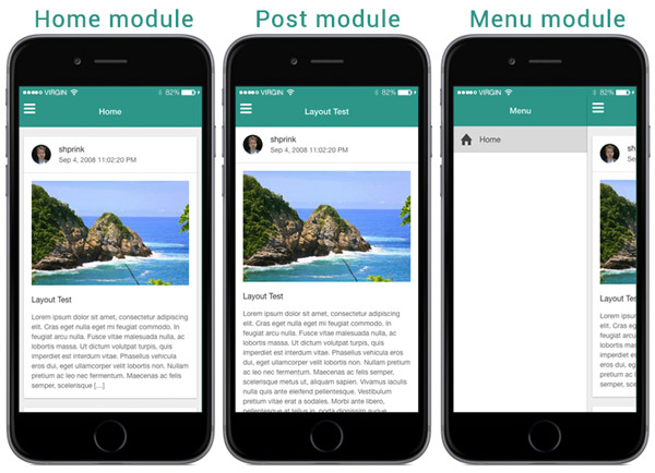 create a mobile application using wordpress, ionic, and angularjs, Presentation templates