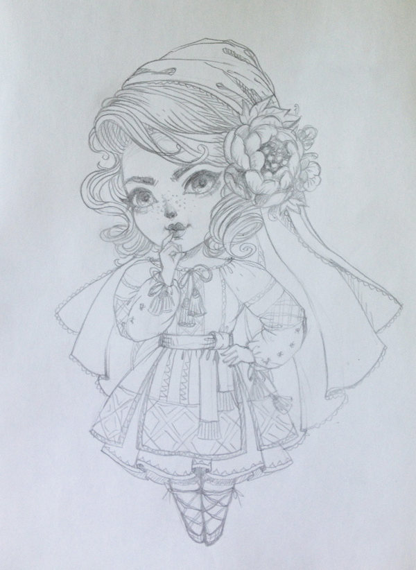 sketch of a chibi