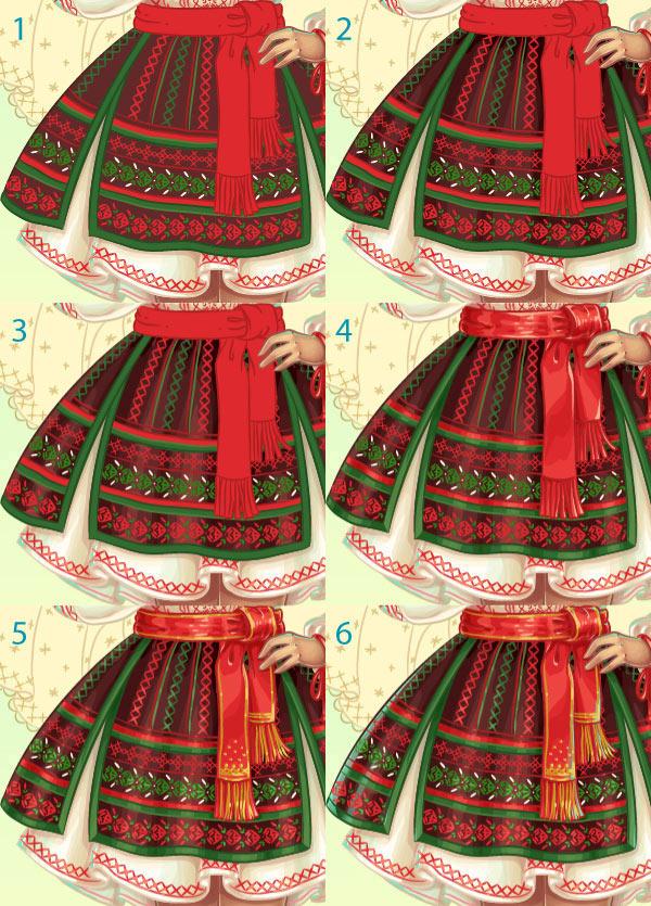 skirt detailing