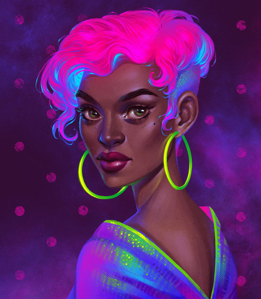 How to Create a Stylish Neon Portrait in Procreate