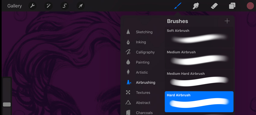 select new brush