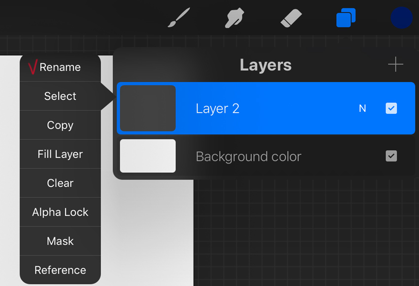 rename the layer